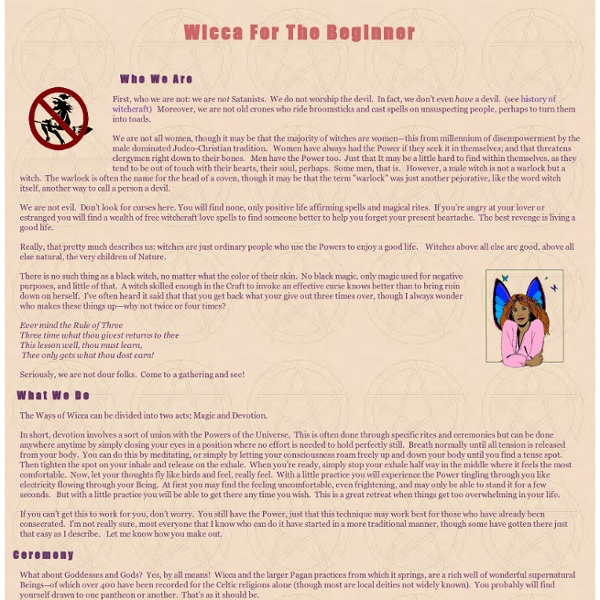 Wicca for the Beginner