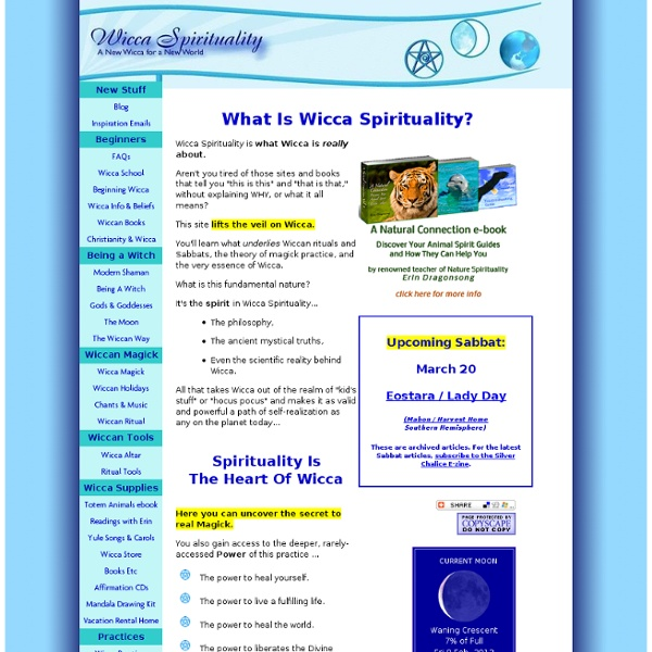 Wicca Spirituality Homepage