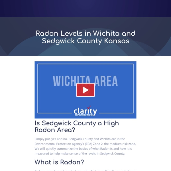 Radon Levels in Wichita and Sedgwick County Kansas