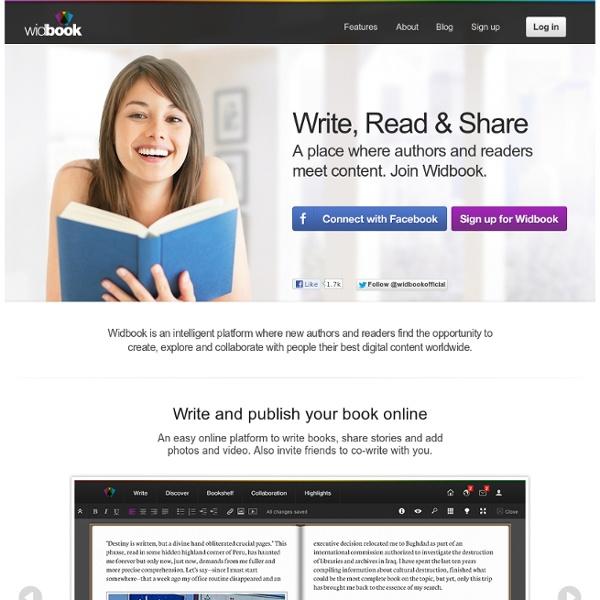 Widbook : écrire, lire un livre collaboratif