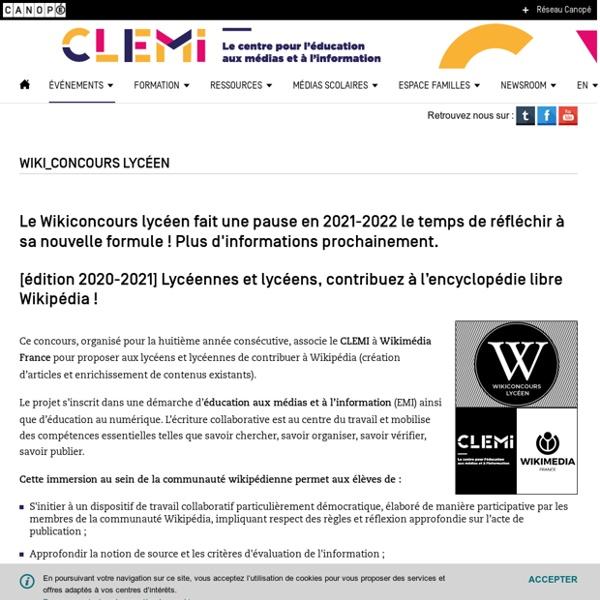 Wiki_concours lycéen- CLEMI