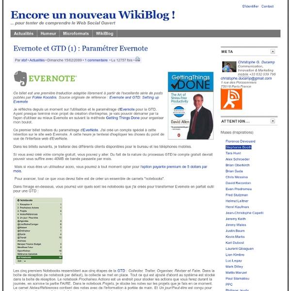 Evernote et GTD (1) : Paramétrer Evernote