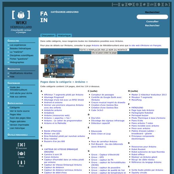 Wiki Débrouillard TOP arduino