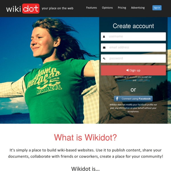 Wikidot - Free and Pro Wiki Hosting