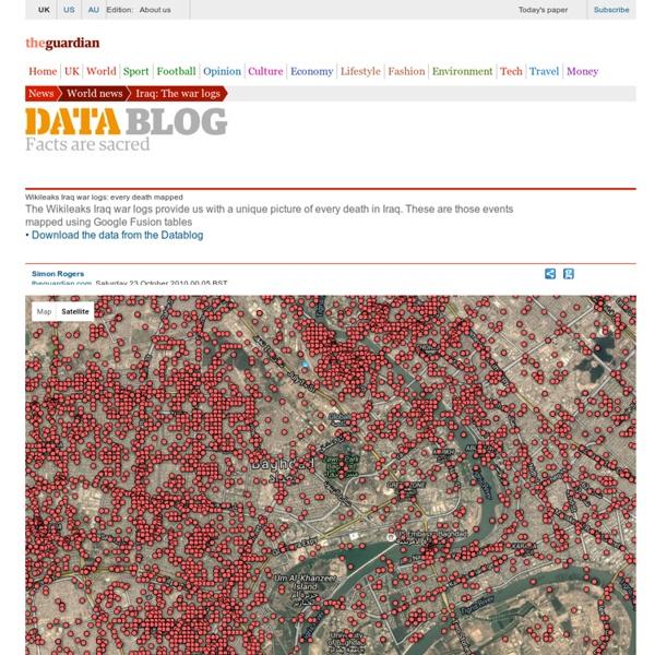 Wikileaks Iraq war logs: every death mapped