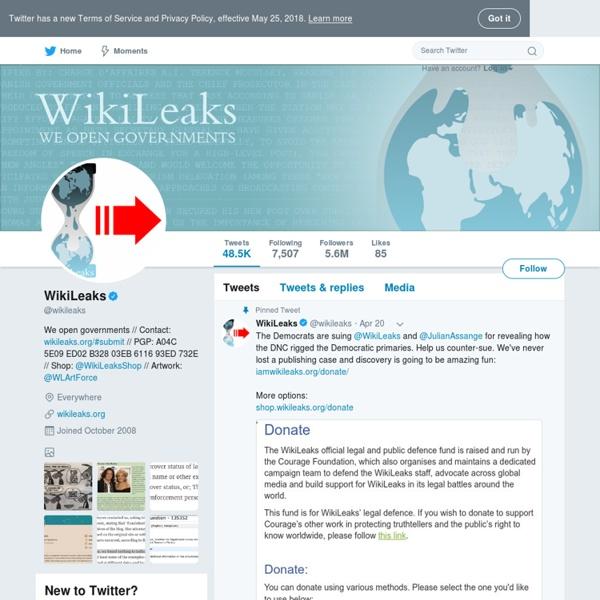 wikileaks twitter