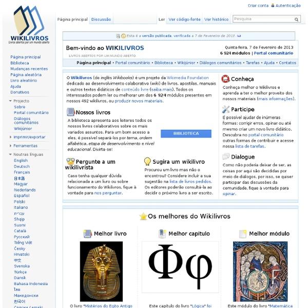 Wikilivros, livros abertos por um mundo aberto