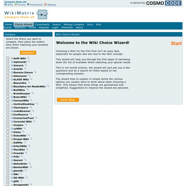 Wiki Choice Wizard