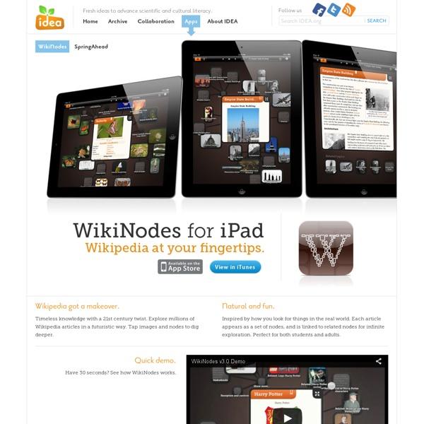 WikiNodes for iPad - IDEA