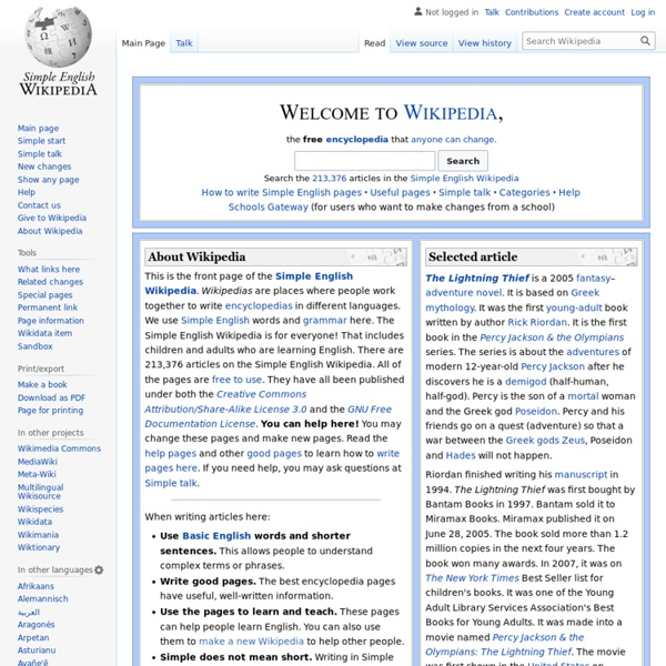 Simple Wikipedia | Pearltrees