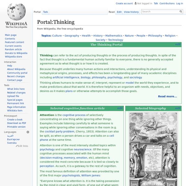 Portal:Thinking