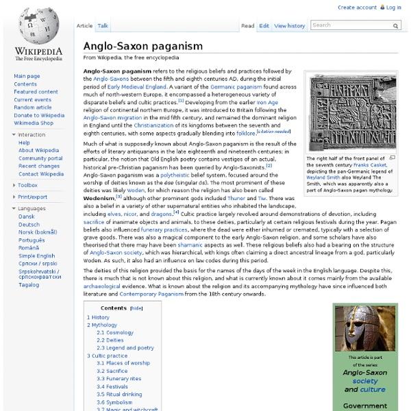 Anglo-Saxon mythology and religion
