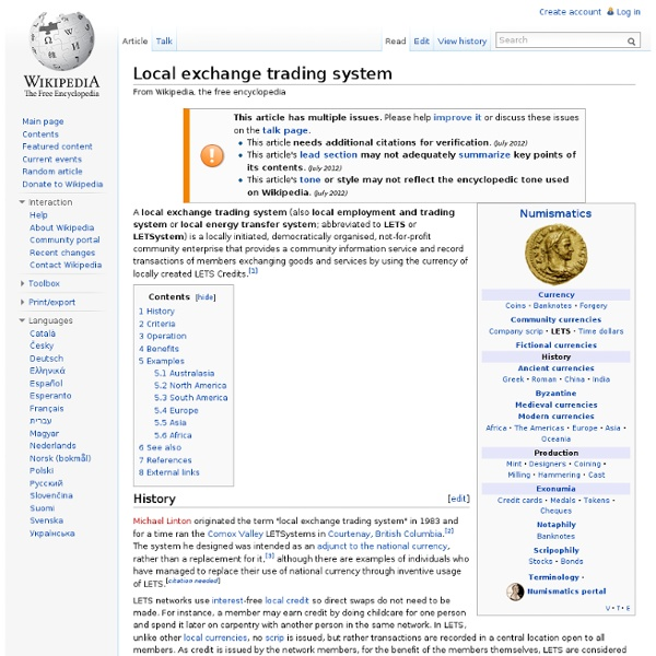 Local exchange trading system disadvantages