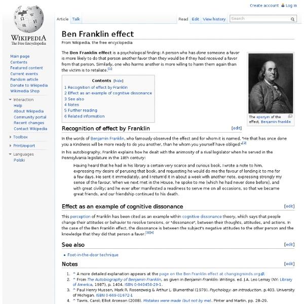 Ben Franklin effect