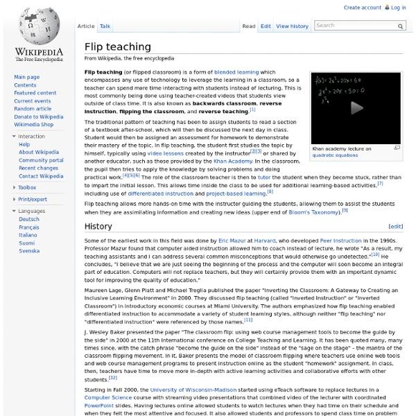 Flip teaching | Pearltrees