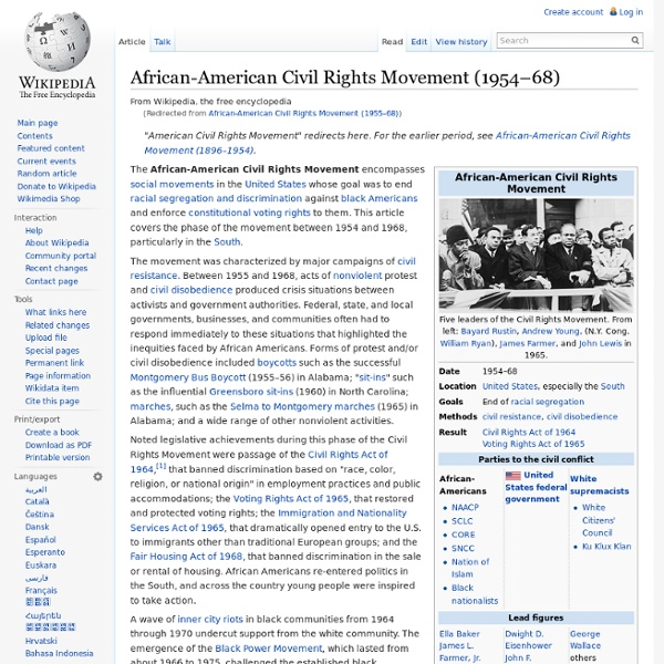 Civil Rights Movement (1955–68) - Wikipedia, the free encyclopedia