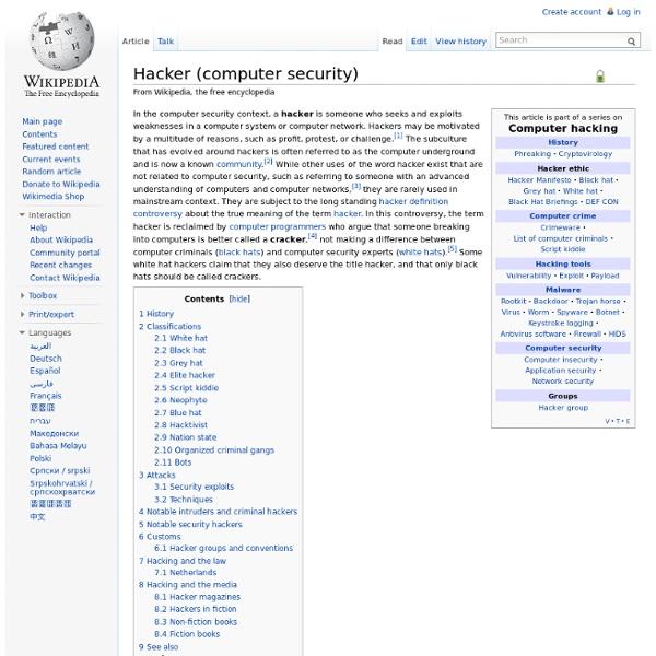 Hacker (computer security)