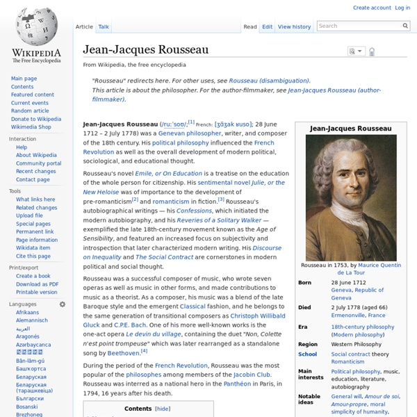 essay on jean jacques rousseau View and download jean jacques rousseau essays examples also discover topics, titles, outlines, thesis statements, and conclusions for your jean jacques rousseau essay.