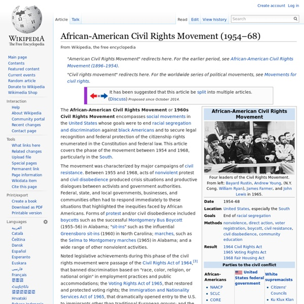 African-American Civil Rights Movement (1954–68)