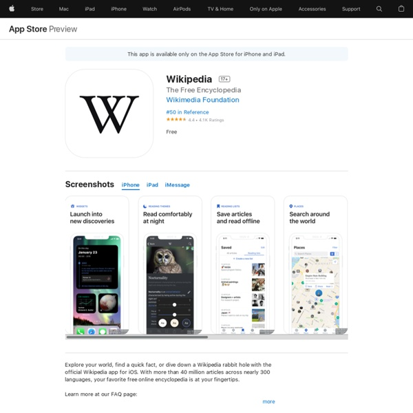 ‎Wikipedia on the App Store