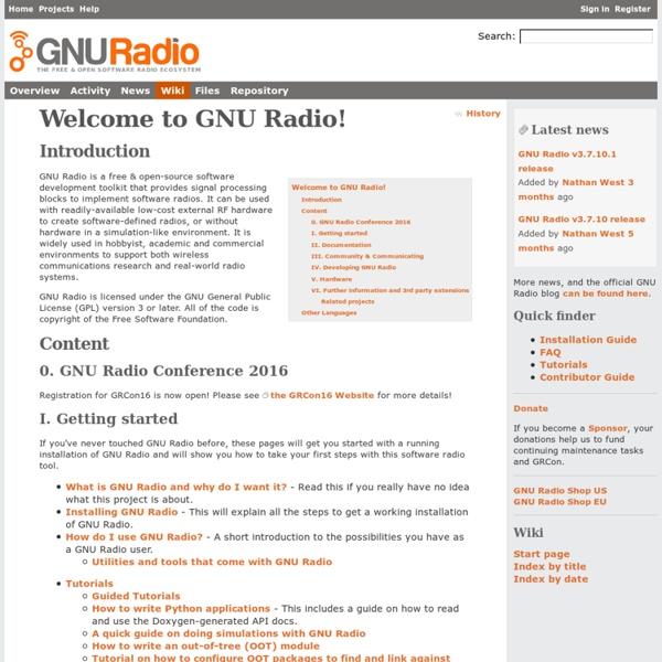 GNU Radio - WikiStart - gnuradio.org