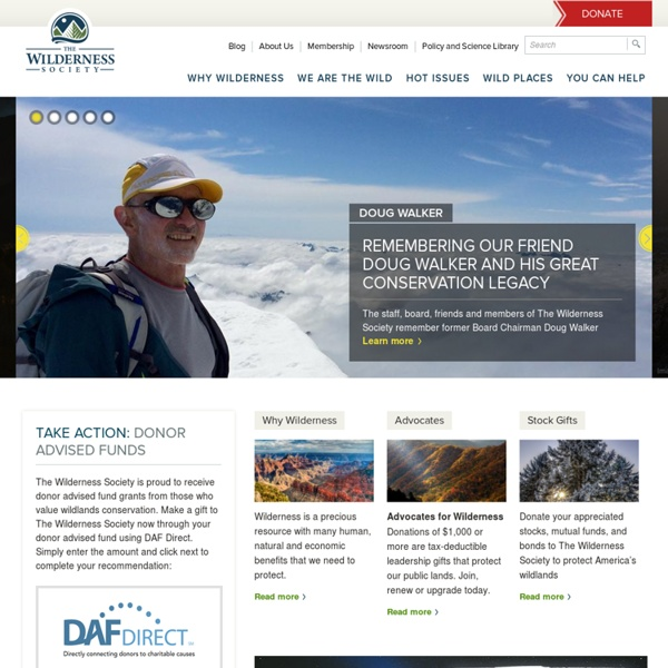 The Wilderness Society Home Page