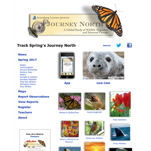 Journey North Citizen Science: A Global Study of Wildlife Migration and Seasonal Change