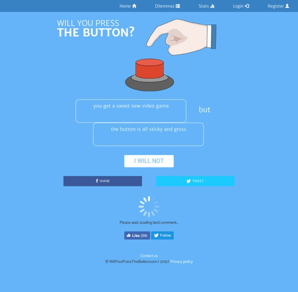 Will You Press The Button? - you get a sweet new video game but...