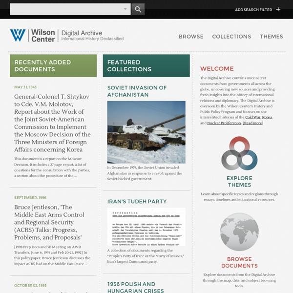 Wilson Center Digital Archive