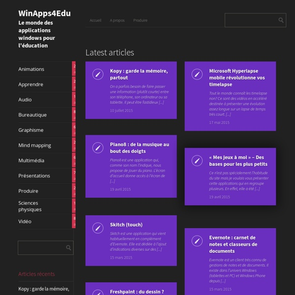 Le monde des applications windows pour l'éducation