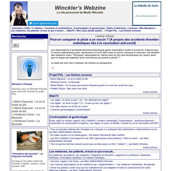 Winckler's Webzine