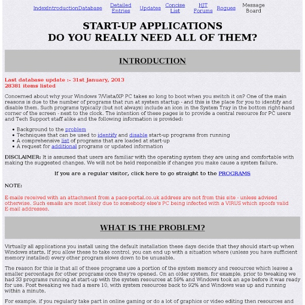 Start-Up Applications Windows