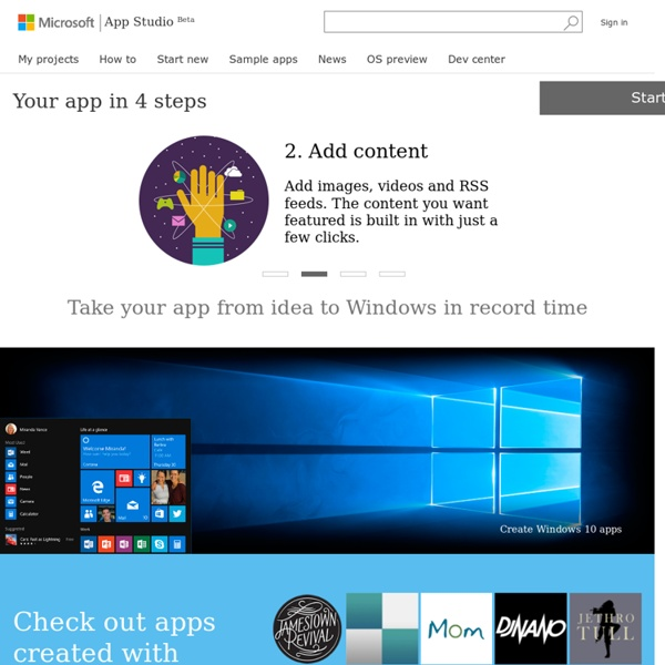 App Studio–Free Tool to create apps in Windows Stores