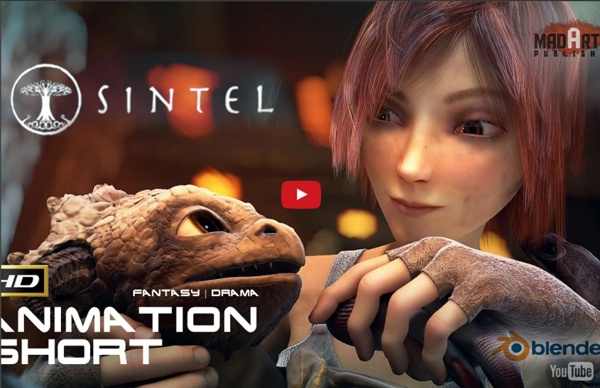 Sintel (HD) AWARD Winning Fantasy Animation Film Feat.in Sketchozine.com Vol.8