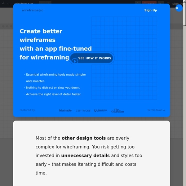 Wireframe.cc - minimal wireframing tool - for free