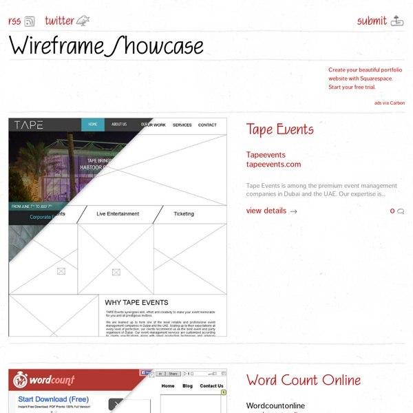 Wireframe Showcase - Home