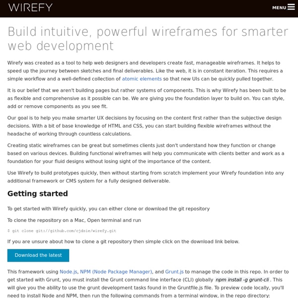 The Responsive Wireframe Framework | Pearltrees