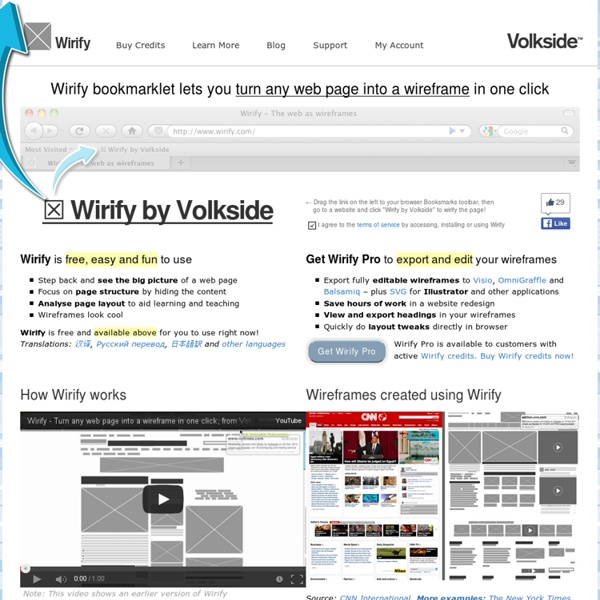 Wirify – The web as wireframes