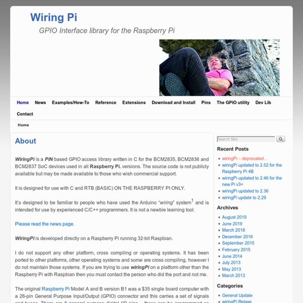 WiringPi - GPIO Interface library