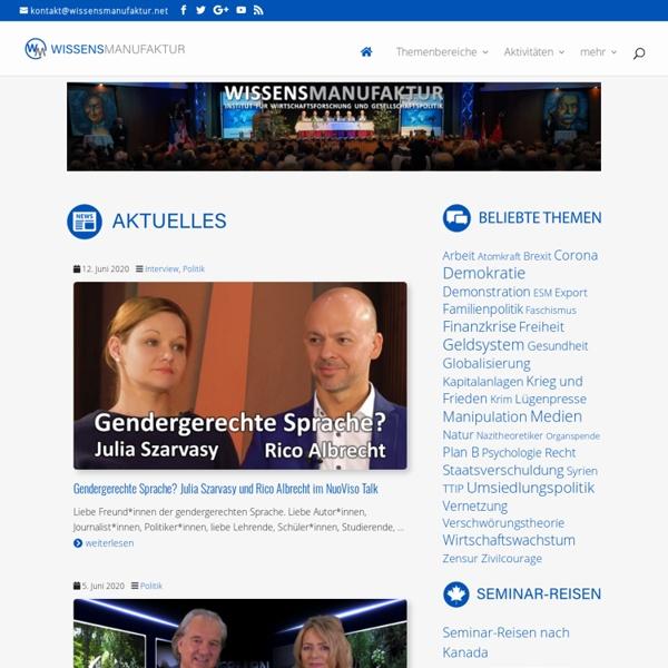 Wissensmanufaktur - Herzlich willkommen bei der Wissensmanufaktur - Institut für Wirtschaftsforschung und Gesellschaftspolitik