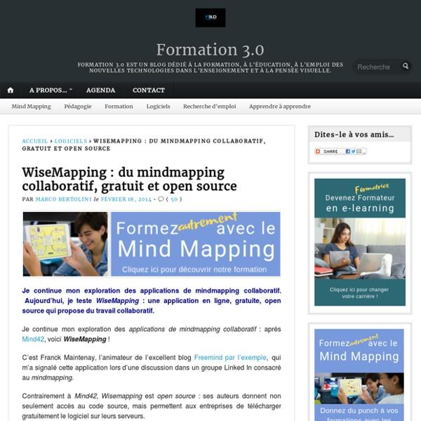 WiseMapping : du mindmapping collaboratif, gratuit et open source