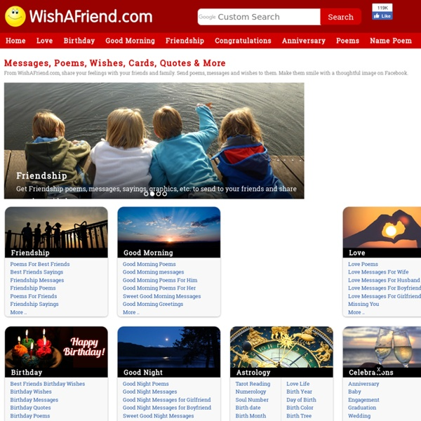 Wishafriend.com - Photo Effects, Profile Pics, Messages, Poems, Quotes, Graphics & More