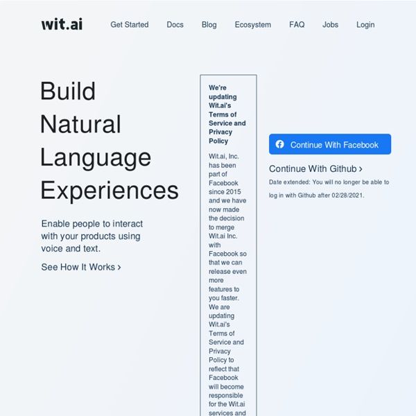 Wit — Natural language for the Internet of Things