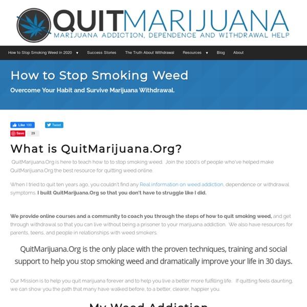 How to Stop Smoking Weed & Beat Withdrawal in 2020 - QuitMarijuana.org
