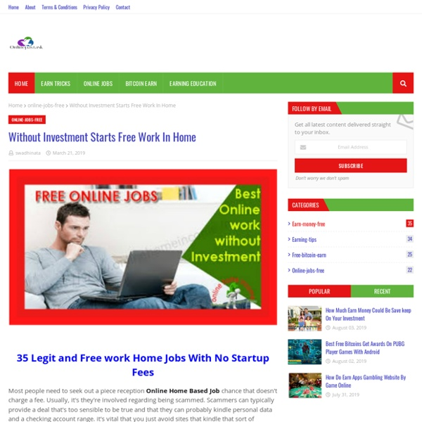 Without Investment Starts Free Work In Home