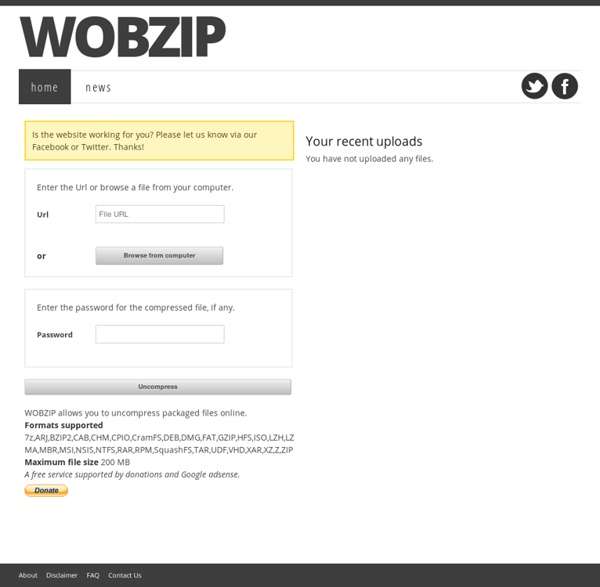 WobZIP - uncompress on the fly!
