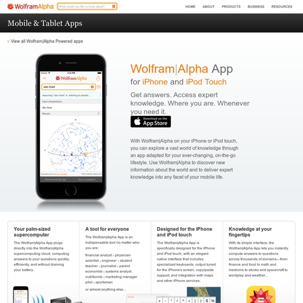 Alpha App for iPhone or iPod touch