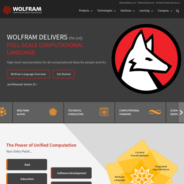 Wolfram Research: Mathematica, Technical and Scientific Software