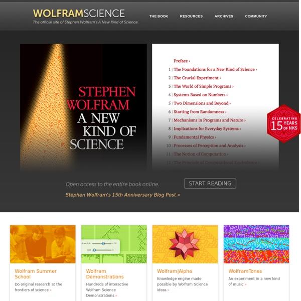 Stephen Wolfram: Science