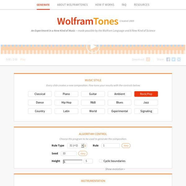 WolframTones - music generator